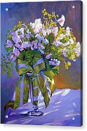 Wedding Bouquet Acrylic Print by David Lloyd Glover