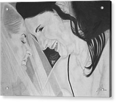 Wedding - Daughter And Mother Blessing Acrylic Print by Miguel Rodriguez
