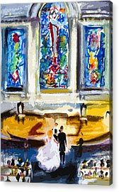 Wedding Day At Second Presbyterian Church Charleston Sc Acrylic Print by Ginette Callaway