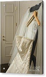 Wedding Dress Acrylic Print by Ned Frisk