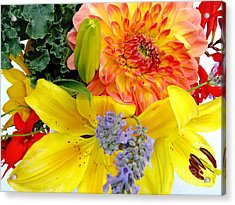 Wedding Flowers Acrylic Print by Rory Sagner
