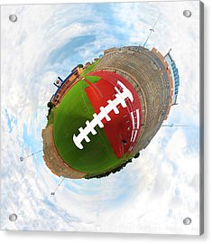 Wee Football Acrylic Print by Nikki Marie Smith