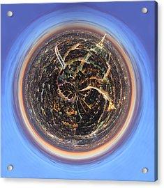 Wee Paris Twilight Planet Acrylic Print by Nikki Marie Smith