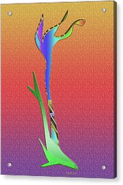 Acrylic Print featuring the digital art Weedy by Asok Mukhopadhyay