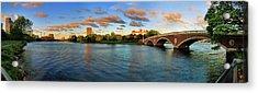 Weeks' Bridge Panorama Acrylic Print by Rick Berk
