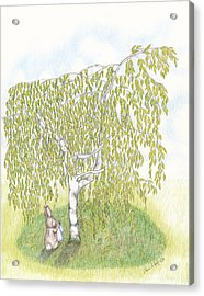 Weeping Birch Acrylic Print by Elaine Read-Cole