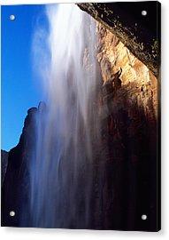 Weeping Rock Waterfall Acrylic Print