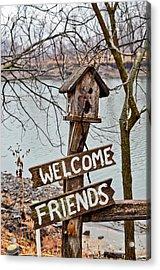 Welcome Friends Acrylic Print by Brenda Becker