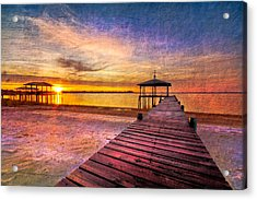 Welcome The Morning Acrylic Print by Debra and Dave Vanderlaan