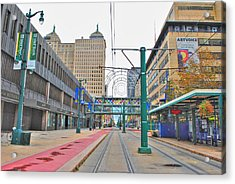 Acrylic Print featuring the photograph Welcome To Dt Buffalo by Michael Frank Jr
