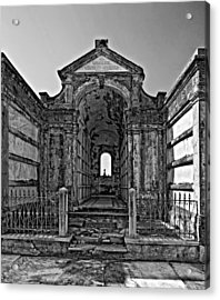 Welcome To Eternity Monochrome Acrylic Print