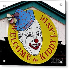 Welcome To Kiddyland Acrylic Print by Maria Scarfone