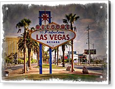 Welcome To Las Vegas Sign Series Impressions Acrylic Print by Ricky Barnard