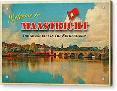 Welcome To Maastricht Acrylic Print by Nop Briex
