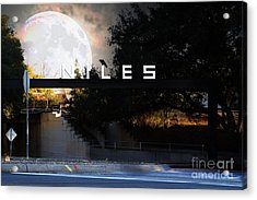 Welcome To Niles California . Gateway To The Stars . 7d12755 Acrylic Print by Wingsdomain Art and Photography