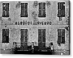 Acrylic Print featuring the photograph Welcome To The Hotel Milano by Andy Prendy