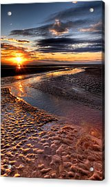 Welsh Sunset Acrylic Print by Adrian Evans