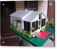 Wendy's Cottage Birdhouse Acrylic Print by Gordon Wendling