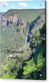 Wentworth Falls Acrylic Print by Carla Parris