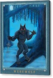 Werewolf Acrylic Print by Glenn Holbrook