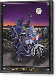 Werewolf Patrol Acrylic Print by Glenn Holbrook