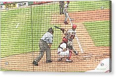 Werth Swings For Phillies Acrylic Print by Lani PVG   Richmond