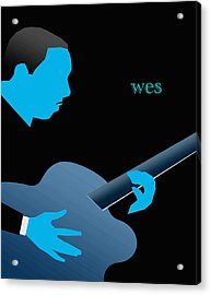 Wes Montgomery Blue Acrylic Print by Victor Bailey