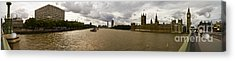 Wesminster Pano Acrylic Print by Keith Sutton