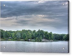West Bank Of Lake Sunset Acrylic Print by Barry Jones