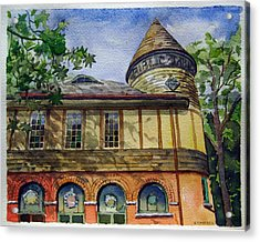 West Chester Library Acrylic Print by Michael Stancato