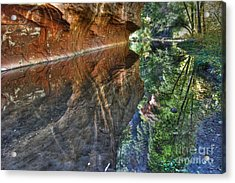 Acrylic Print featuring the photograph West Fork Reflection by Tam Ryan
