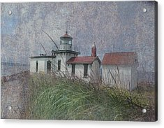 West Point Lighthouse - Seattle Acrylic Print by Jeff Burgess