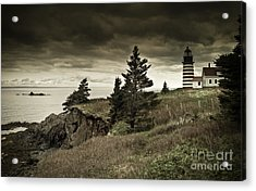 Acrylic Print featuring the photograph West Quoddy Head Lighthouse by Alana Ranney