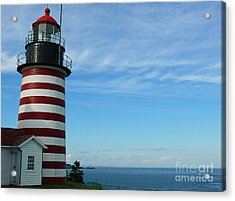 Acrylic Print featuring the photograph West Quoddy Lighthouse by Jeanne  Woods