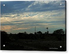Acrylic Print featuring the photograph West Texas Sunset by Travis Burgess