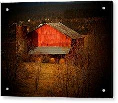 West Va Barn Acrylic Print by Joyce Kimble Smith