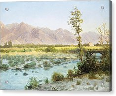 Western Landscape Acrylic Print by Albert Bierstadt