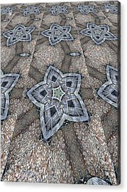 Acrylic Print featuring the digital art Western Star Tile by Michelle Frizzell-Thompson