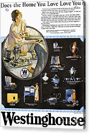Westinghouse Ad, 1925 Acrylic Print by Granger