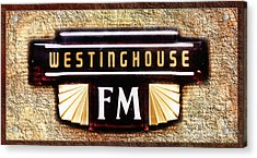 Westinghouse Fm Logo Acrylic Print by Andee Design