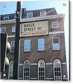 #westminster #bakerstreet #baker Acrylic Print by Abdelrahman Alawwad