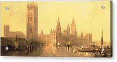 Westminster Houses Of Parliament Acrylic Print by David Roberts