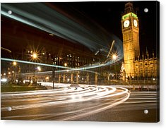 Westminster Lights Acrylic Print by Copyright Michael Spry