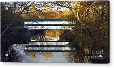 Westport Covered Bridge - D007831a Acrylic Print by Daniel Dempster