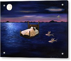 Wet Dreams Acrylic Print by Leah Saulnier The Painting Maniac