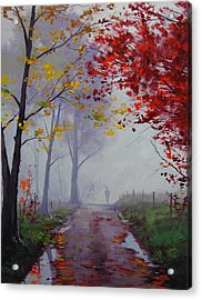 Wet Misty Day Acrylic Print