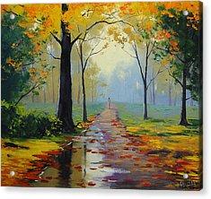 Wet Road Acrylic Print