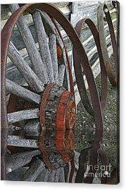Wet Wheels Acrylic Print by Al Bourassa