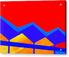 Wexler Folded Roof Two Acrylic Print by Randall Weidner