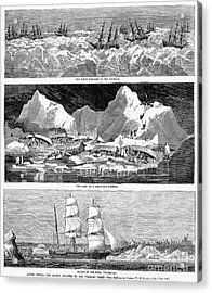 Whaling Fleet In Ice, 1876 Acrylic Print by Granger